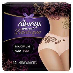 Always Discreet Boutique High-Rise Incontinence Underwear, Maximum Rosy