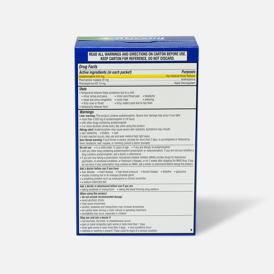 Theraflu Sinus & Pain Powder, Apple & Cinnamon, 6 ct, , large image number 1