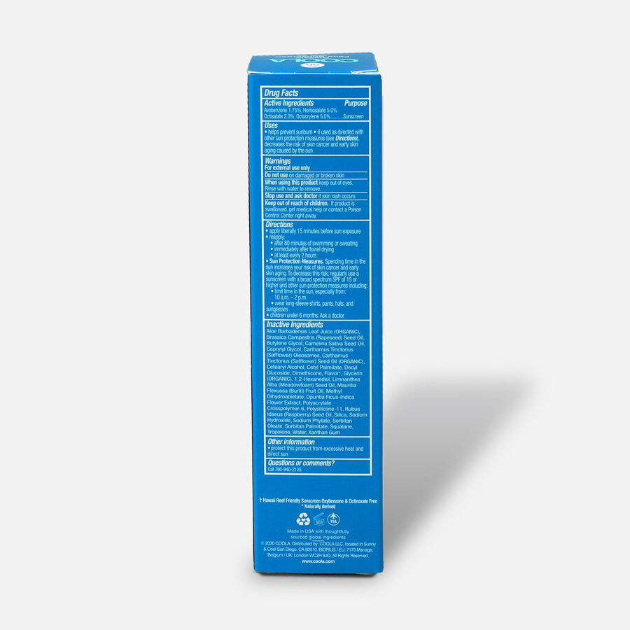 Coola Classic Face Organic Sunscreen Lotion SPF 50, White Tea, 1.7oz, , large image number 1