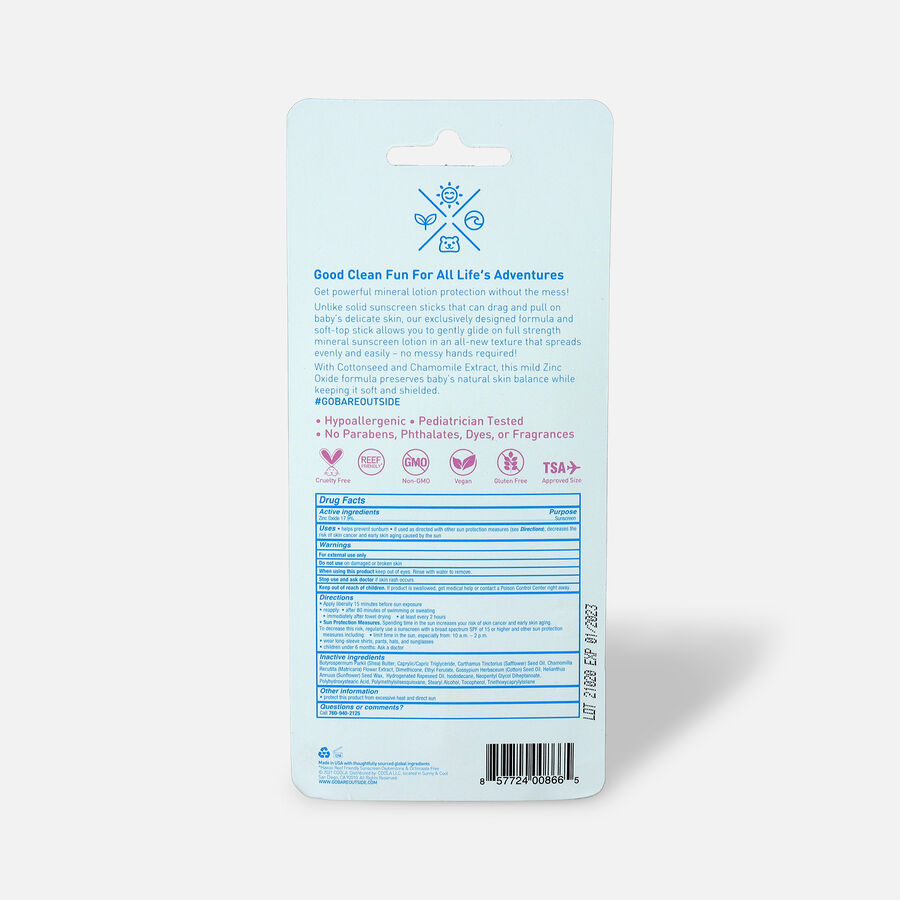 Baby Bare Republic Mineral Soft Sunscreen Stick SPF 50, , large image number 2