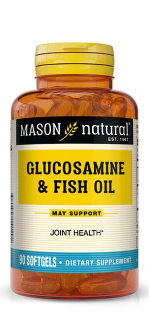 Mason Vitamins Natural Glucosamine & Fish Oil,  90 softgels