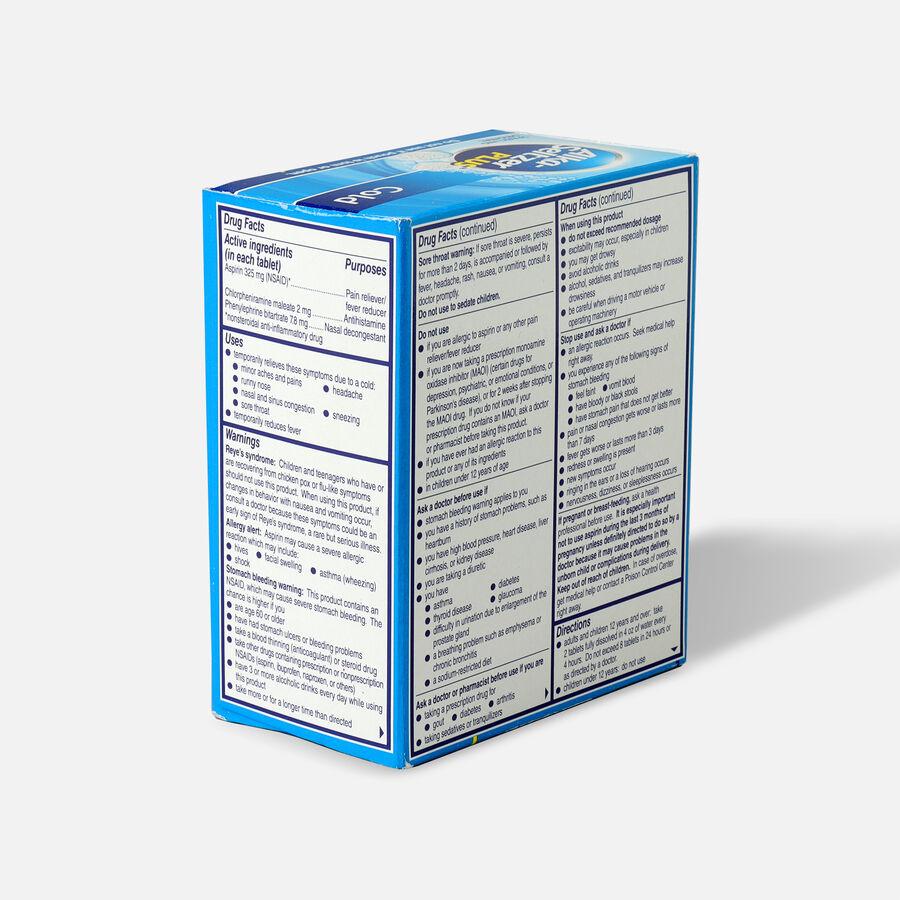 Alka-Seltzer Plus Cold Formula Sparkling Original Effervescent Tablets, 36 Ct, , large image number 3