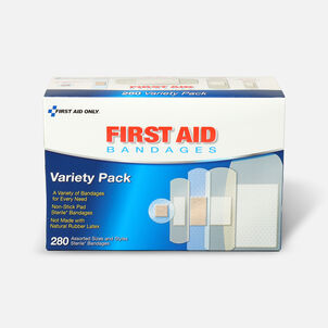 First Aid Only Sheer & Clear Bandage Variety Pack, Assorted Sizes - 280ct