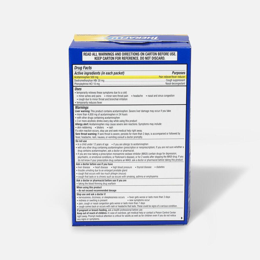 Theraflu Multi-Symptom Severe Cold Hot Liquid Powder Tea Infusions, Green Tea and Honey Lemon Flavors, 6 ct, , large image number 2