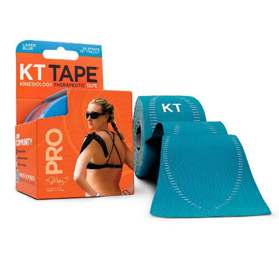 KT TAPE PRO, Pre-cut, 20 Strip, Synthetic, Laser Blue, Laser Blue, large image number 0