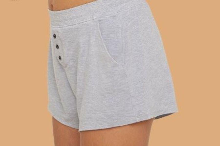 Thinx Period Proof Sleep Shorts, Grey, XS, , large image number 2