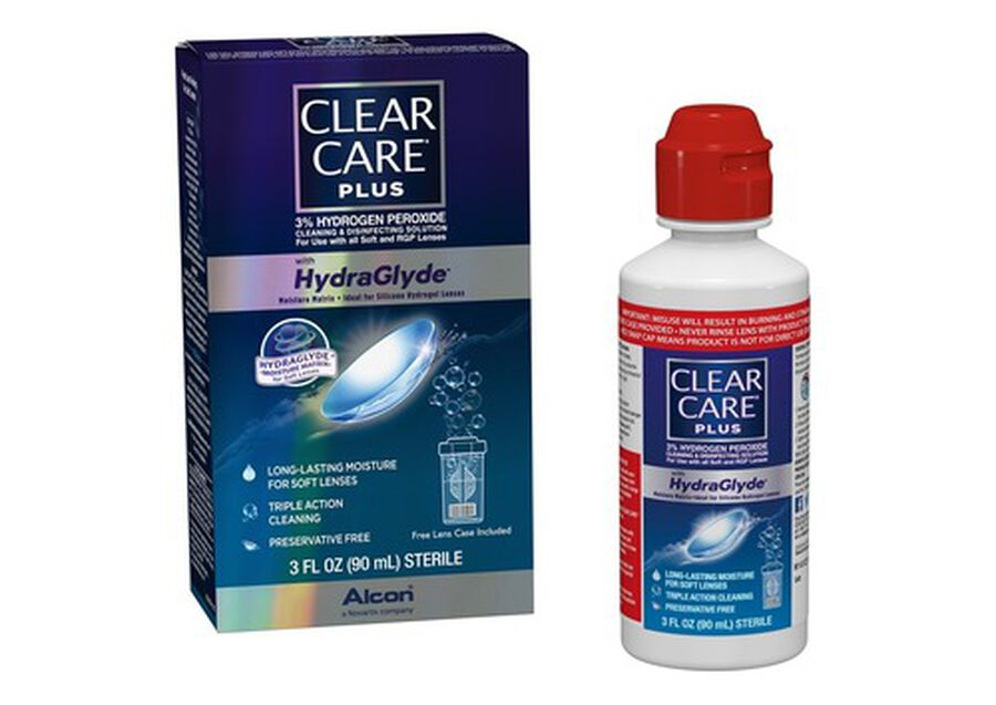 Clear Care Plus Cleaning and Disinfecting Solution 3 fl oz, , large image number 4