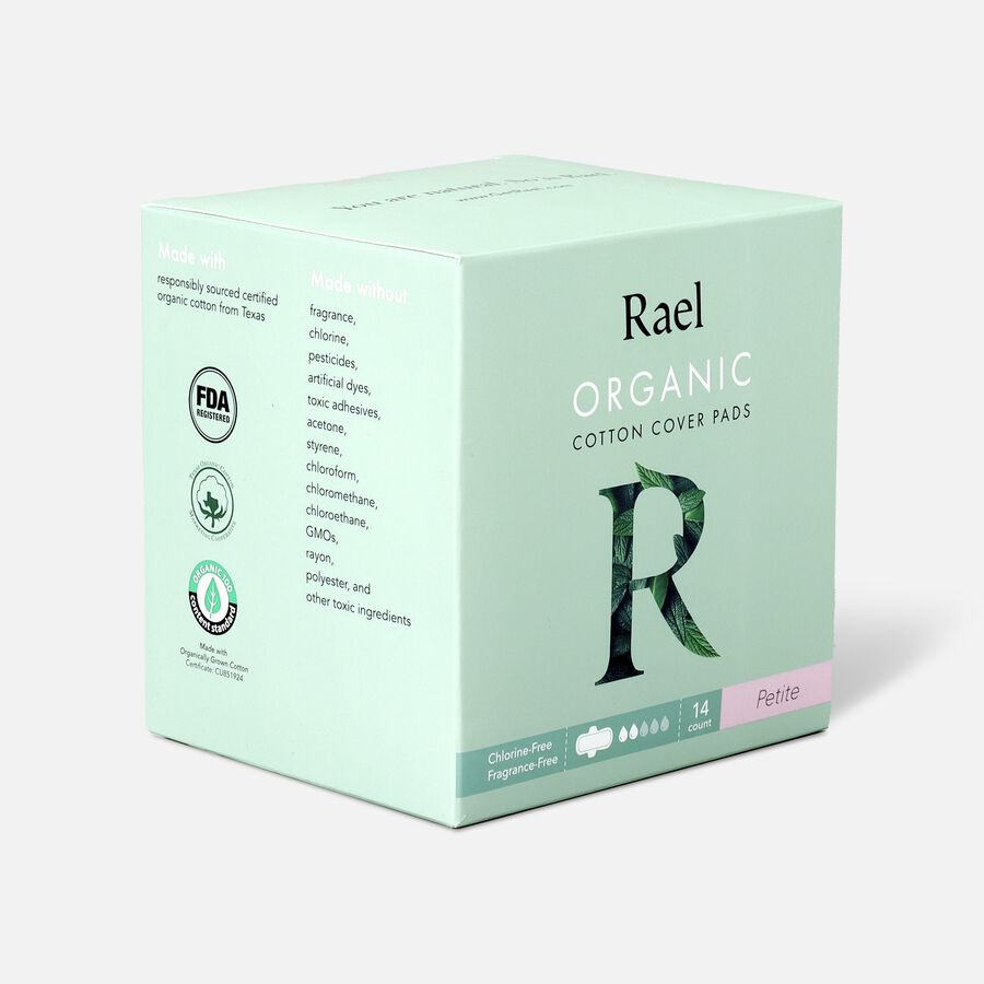 Rael Organic Cotton Ultra-Thin Pads, Petite Size, Light Absorbency, 14ct, , large image number 3