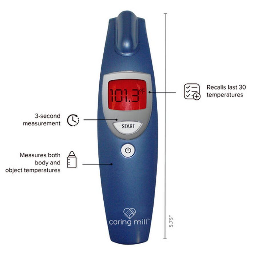 Caring Mill® Non touch Forehead Thermometer, , large image number 2