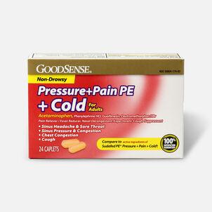 GoodSense® Pressure + Pain PE + Cold Relief Caplets, Non-Drowsy, 24 ct