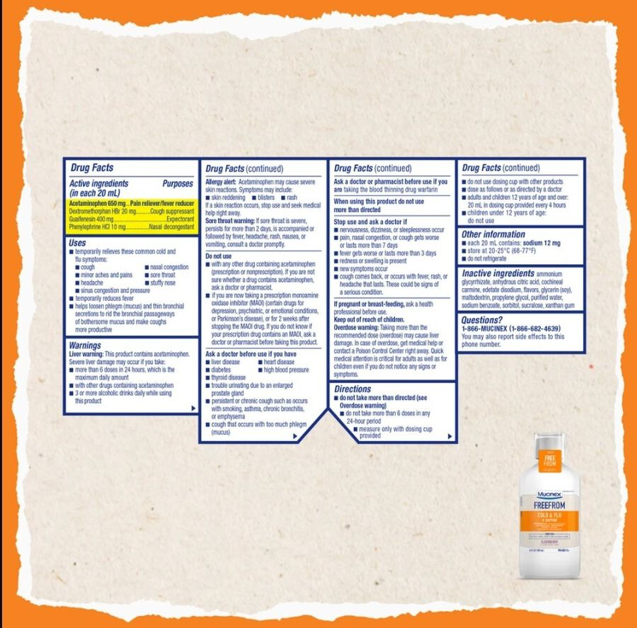 MUCINEX Adult Cold and Flu, Daytime, , large image number 1