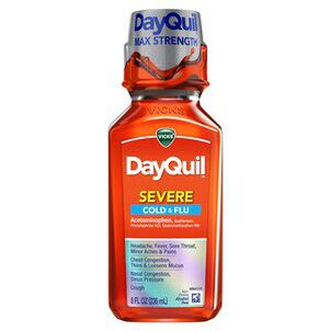 Vicks DayQuil Severe Liquid, 8 oz