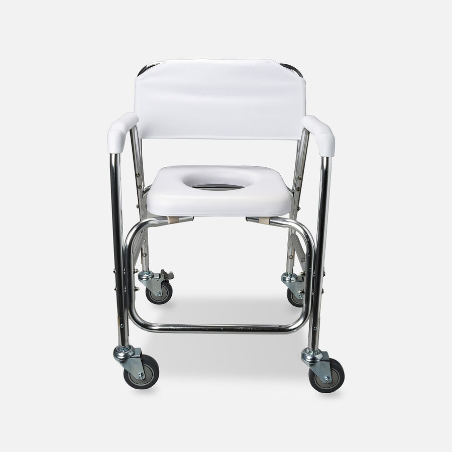 DMI Shower Transport Chair, w/Rear Wheels And Brakes, , large image number 0