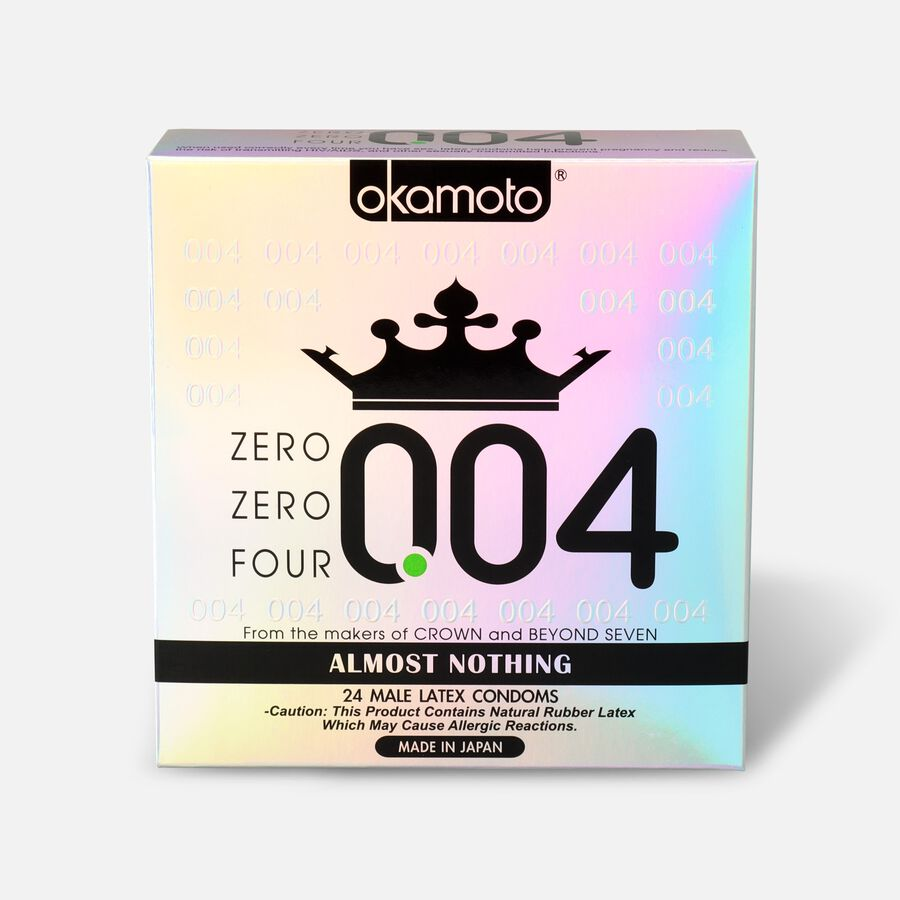 Okamoto .04 mm Zero Zero Four Condoms, 24 ct, , large image number 0