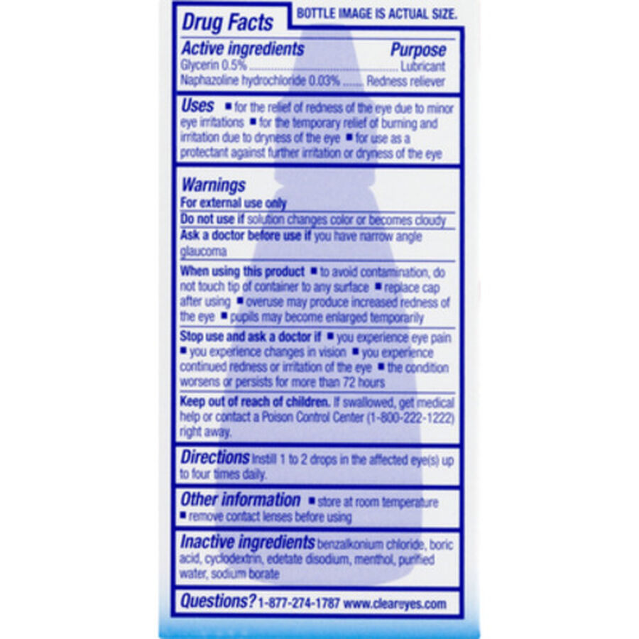 Clear Eyes Cooling Comfort Redness Relief, .5 oz, , large image number 1