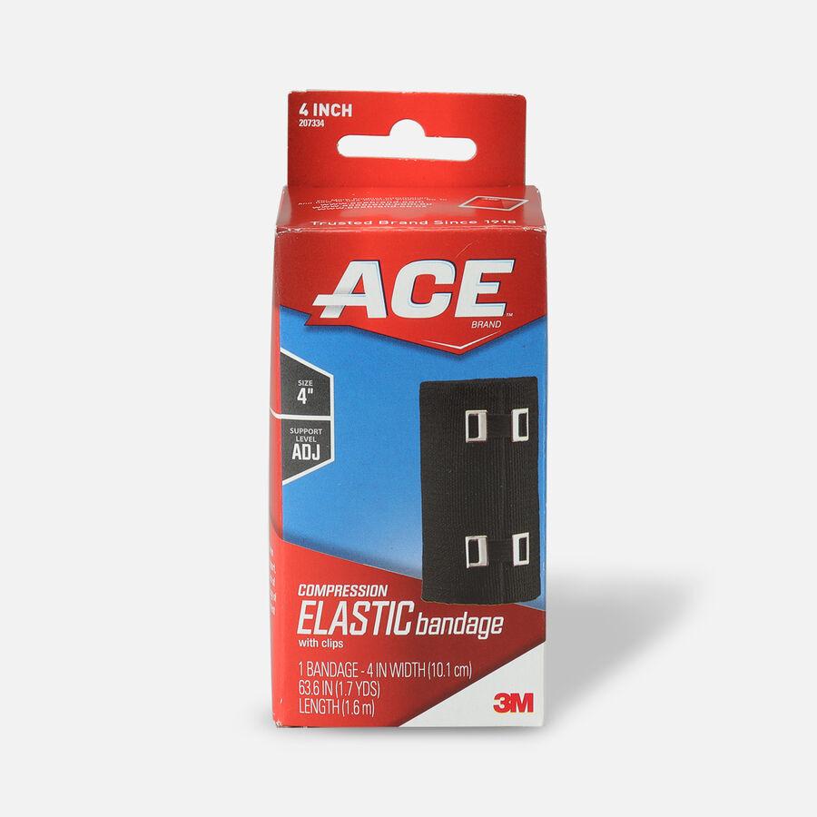 Ace Elastic Bandage with Clips - Black, , large image number 1