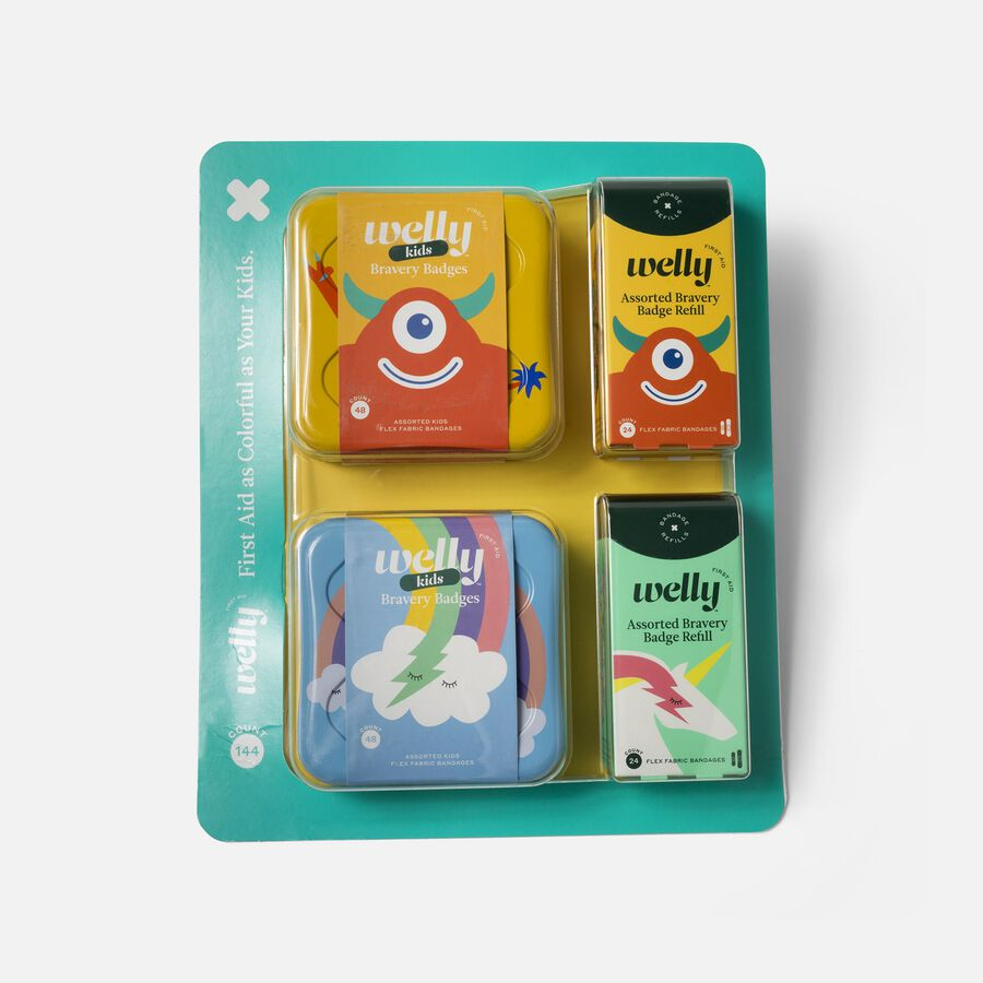 Welly Rainbow and Monster Bravery Badges Bundle, 144 pc, , large image number 0