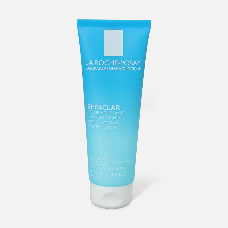 La Roche-Posay Effaclar Deep Cleansing Foaming Cream Cleanser, 4.22 oz, , large image number 0