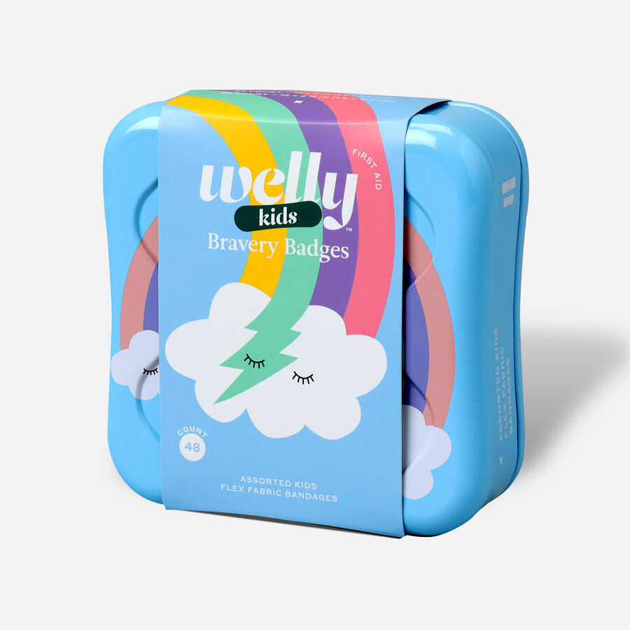 Welly Bravery Badges Assorted Kids Rainbow Flex Fabric Bandages - 48ct, , large image number 2