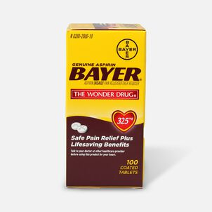 Genuine Bayer Aspirin, 325mg Tablets, 100 ea