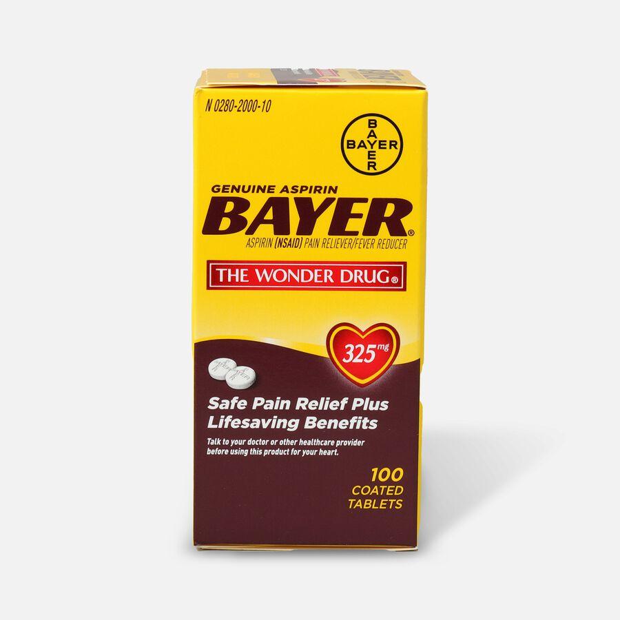 Genuine Bayer Aspirin, 325mg Tablets, 100 ea, , large image number 0
