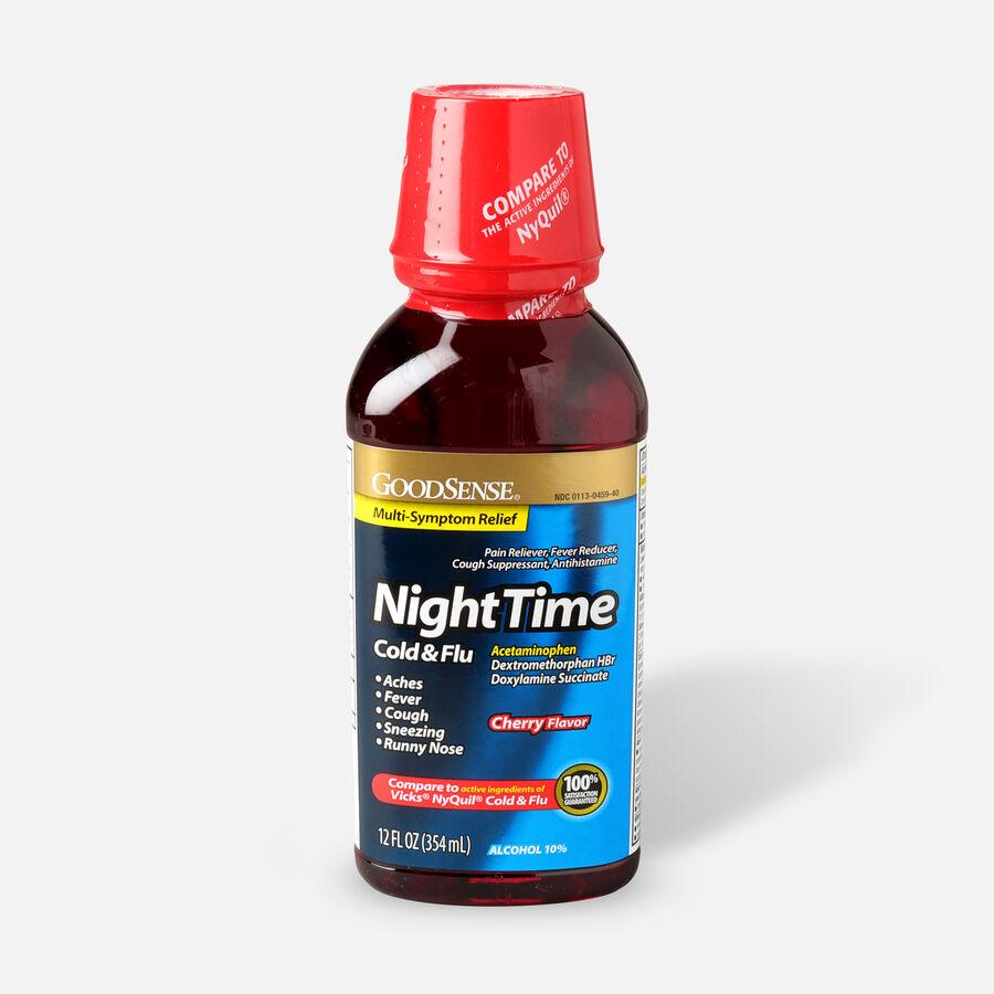 GoodSense® Night Time Cold & Flu Multi Symptom Cherry, 12 fl oz, , large image number 0