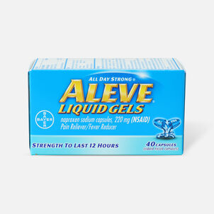 Aleve Liquid Gels Pain Reliever/Fever Reducer, 40 ea
