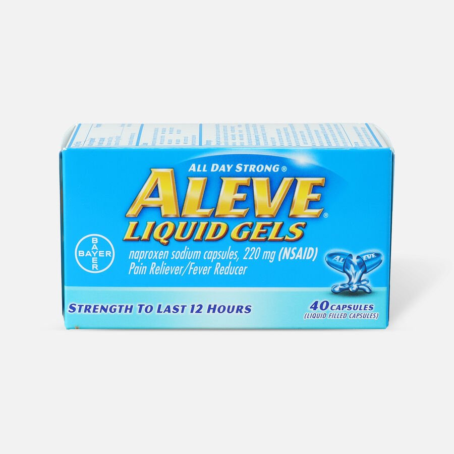 Aleve Liquid Gels Pain Reliever/Fever Reducer, 40 ea, , large image number 0