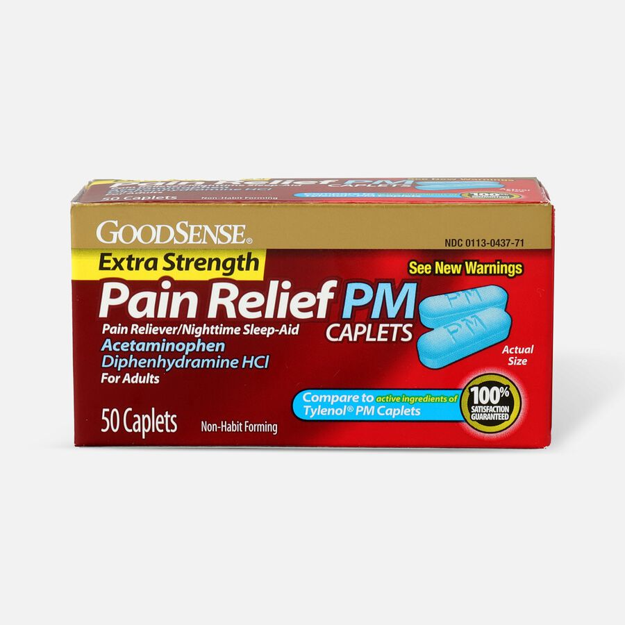 GoodSense® Extra Strength Pain Relief PM Caplets, 50 ct, , large image number 0
