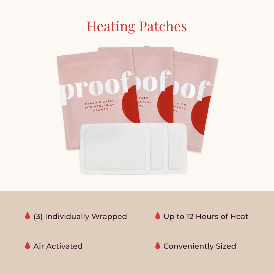 proof. Heating Patch for Menstrual Cramps, 3ct, , large image number 4