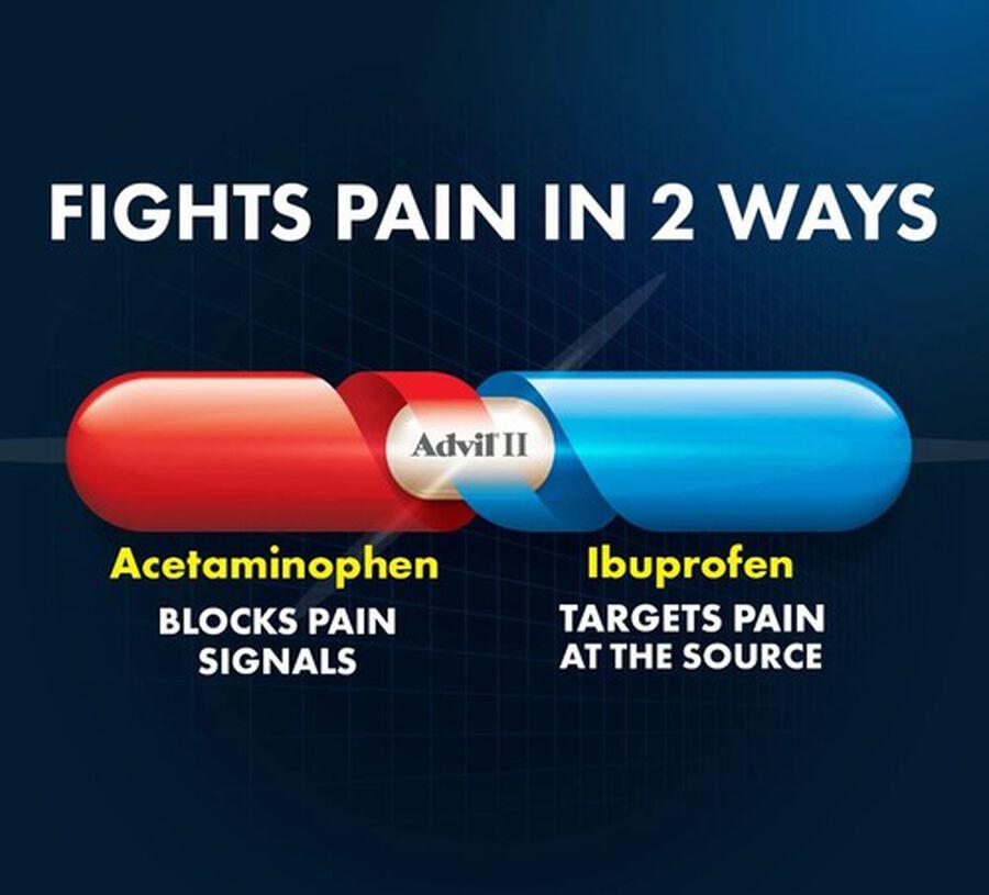 Advil Dual Action Coated Tablets, Acetaminophen + Ibuprofen, , large image number 4