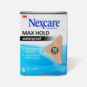 Nexcare Max Hold Waterproof Heel/Hand Bandages - 6ct