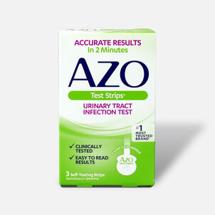 Azo Urinary Tract Infection Test Strips with Handle, 3 ct