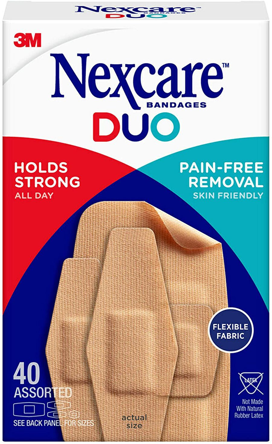Nexcare DUO Bandage, Assorted, 40ct, , large image number 0