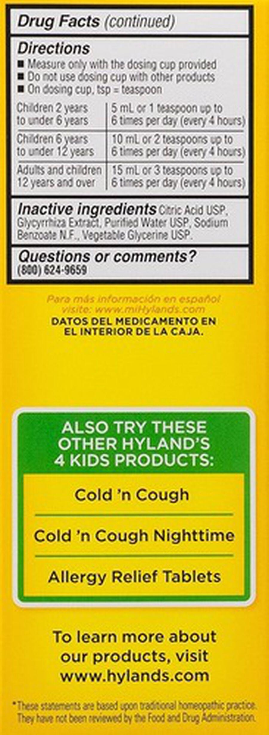 Hyland's 4 Kids Complete Allergy, 4 oz, , large image number 2