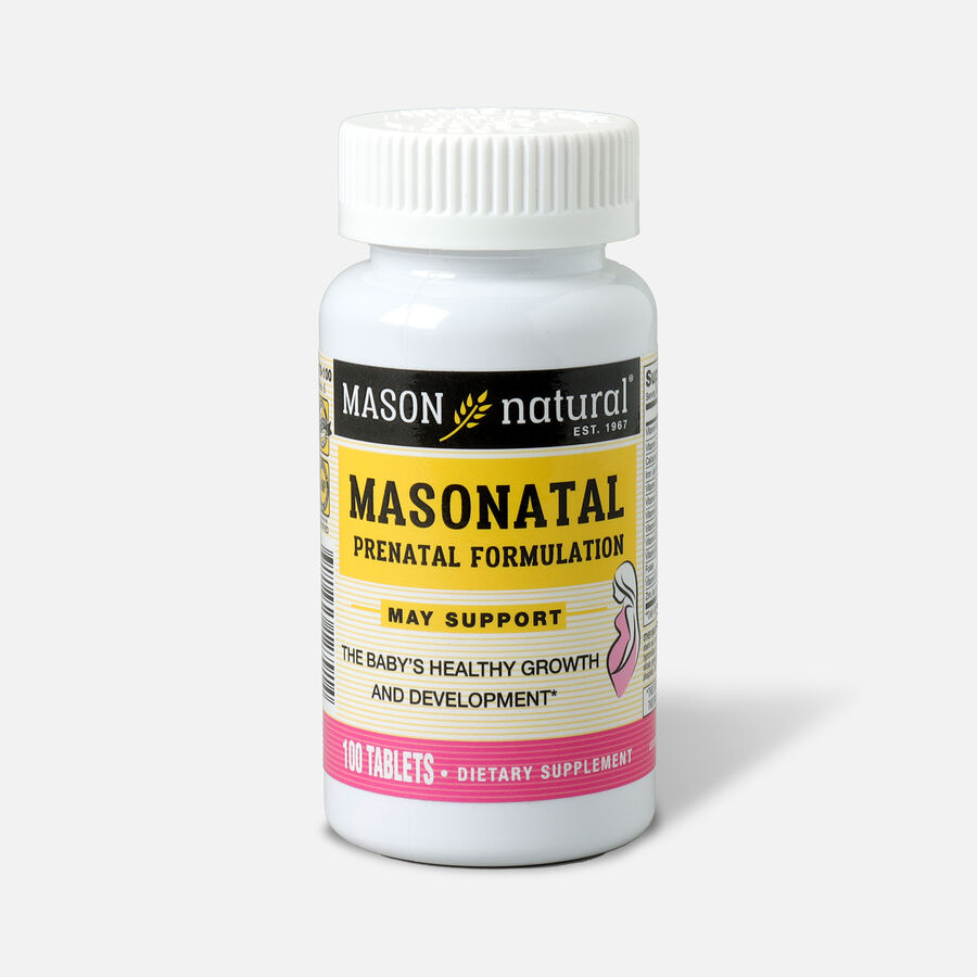 Mason Natural MasNatal Multivitamin/Multimineral Supplement, 100 tablets, , large image number 0