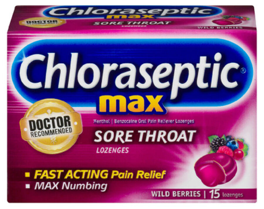 Chloraseptic Max, Wild Berries, Sore Throat Lozenges, 15 ct., , large image number 0