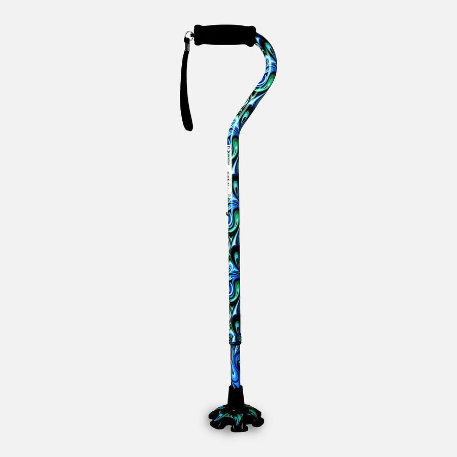 Essential Medical Supply Couture Offset Cane with Matching Tip, , large image number 6