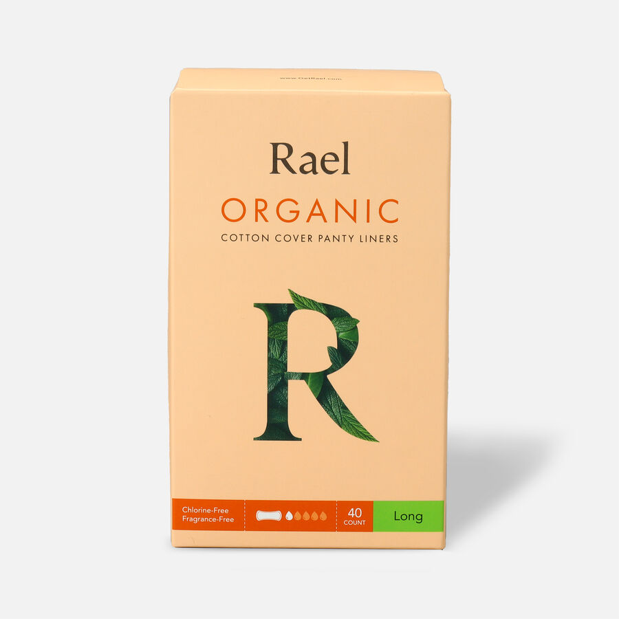 Rael Organic Cotton Cover Panty Liners - Long, , large image number 0