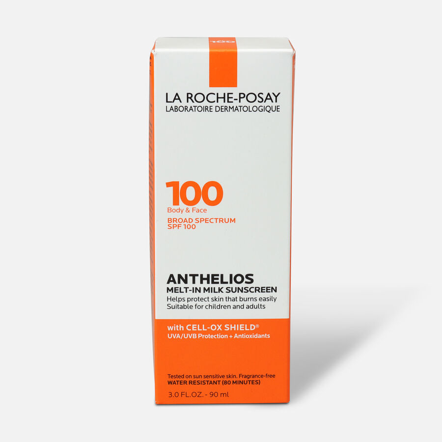 La Roche-Posay Anthelios Melt-In Milk Sunscreen for Face & Body SPF 100, 3 fl oz., , large image number 1