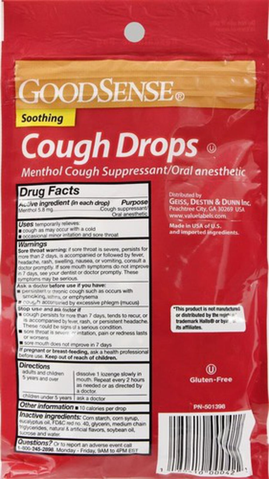 GoodSense® Cough Drops Cherry 30 ct, , large image number 1