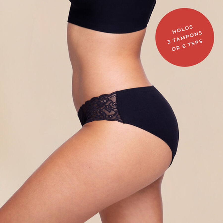 Proof® Period Underwear - Lace Cheeky (3 tampons / 6 tsps), , large image number 4