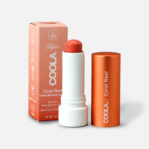 Coola Mineral Liplux SPF 30 Coral Reef Lip Balm, 0.15 oz