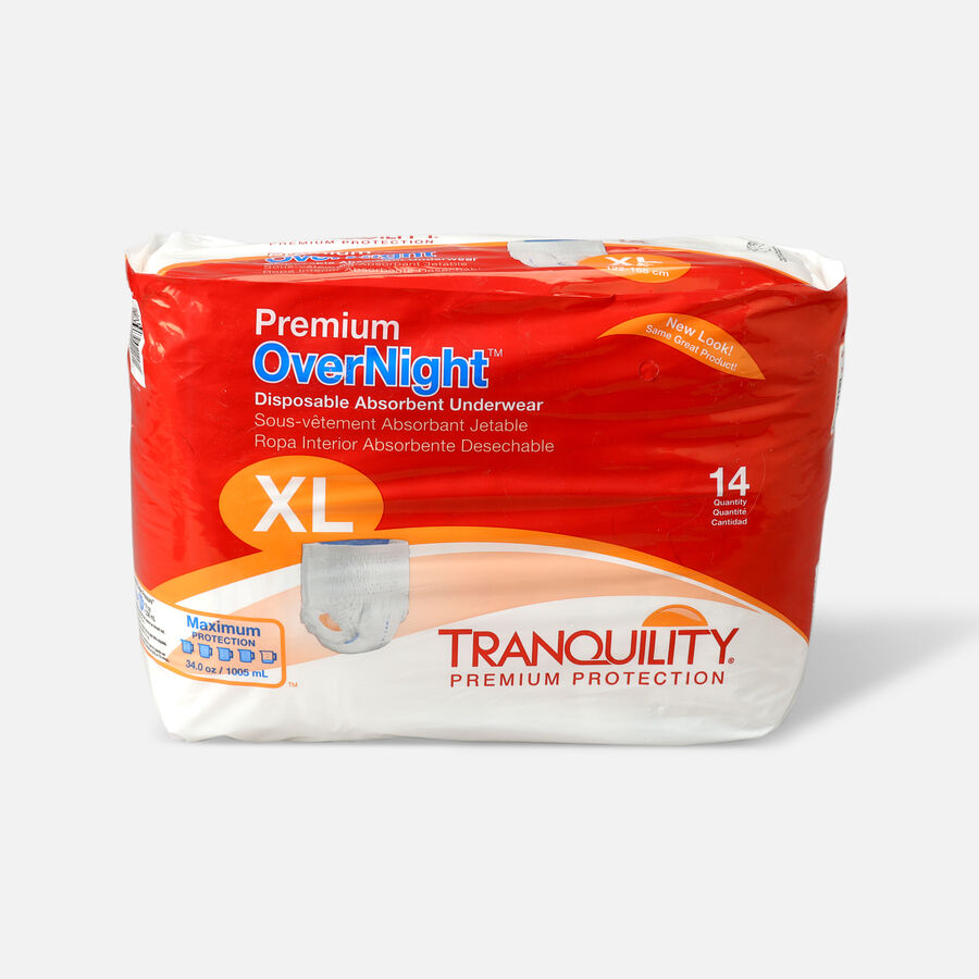 Tranquility Premium OverNight Disposable Underwear, , large image number 9