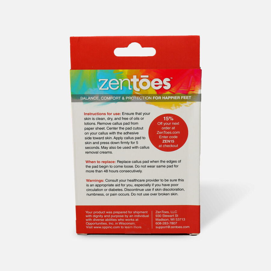 ZenToes Callus Pads Cushions - 48 Pack, , large image number 1