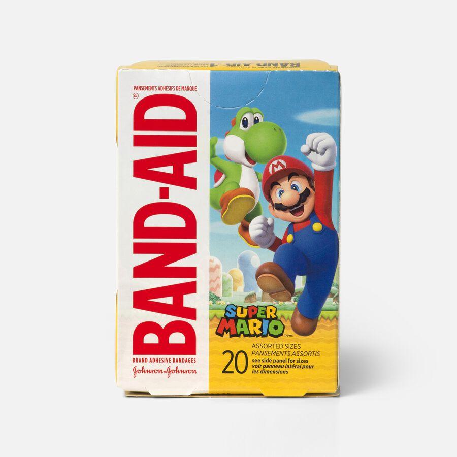 Band-Aid Super Mario Adhesive Bandage, 20 ct, , large image number 0