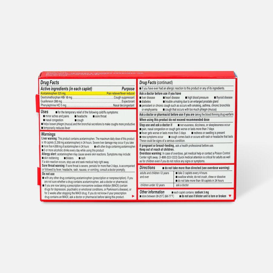 Tylenol Cold + Flu Severe Caplet, 24ct, , large image number 1
