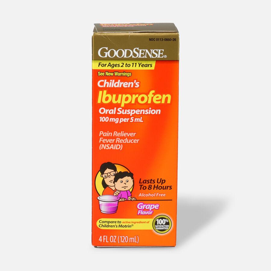 GoodSense® Children's Ibuprofen 100mg Oral Suspension, 4 fl oz, , large image number 4