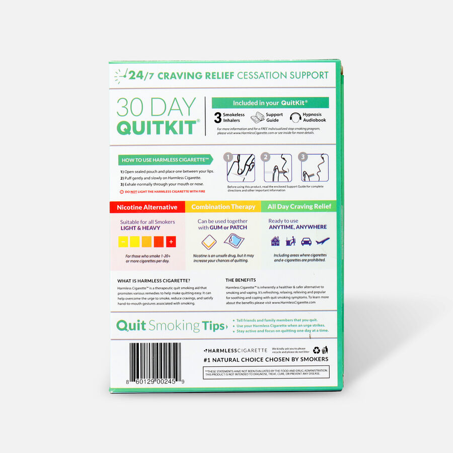 Harmless Cigarette Quit Smoking Aid, 30 Day Quit Kit, Fresh Mint, , large image number 1