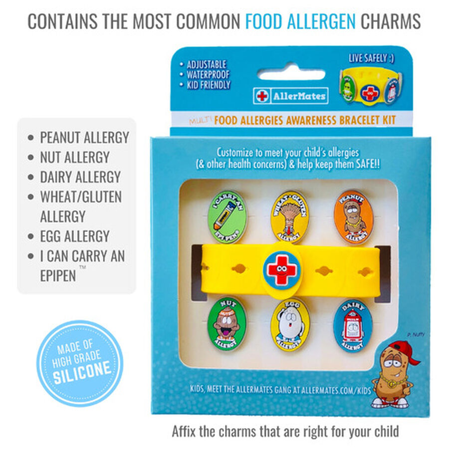 AllerMates Children's Allergy Charm Bracelet - Food Allergy, , large image number 2